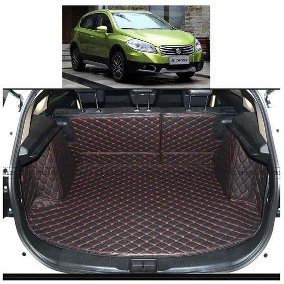 Custom Fit Pu Leather Car Trunk Mat Cargo Mat For Suzuki S Cross Suzuki Sx4 Sx4 Crossover 2014 2015 2016 2017 5 Interior Accessories Cargo Liner Baby Car Seats