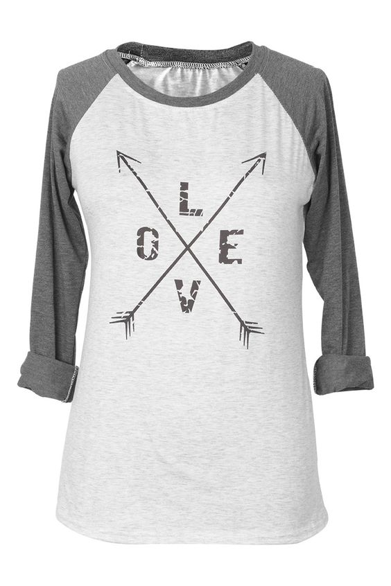 Cupshe Cross Love Arrow Print Top