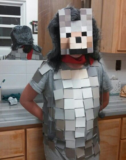Minecraft Villager Head Costume Minecraft Wolf....Hall...