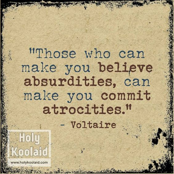 Isn't it always best to just pursue the truth? #atheism #atheistquote #voltaire