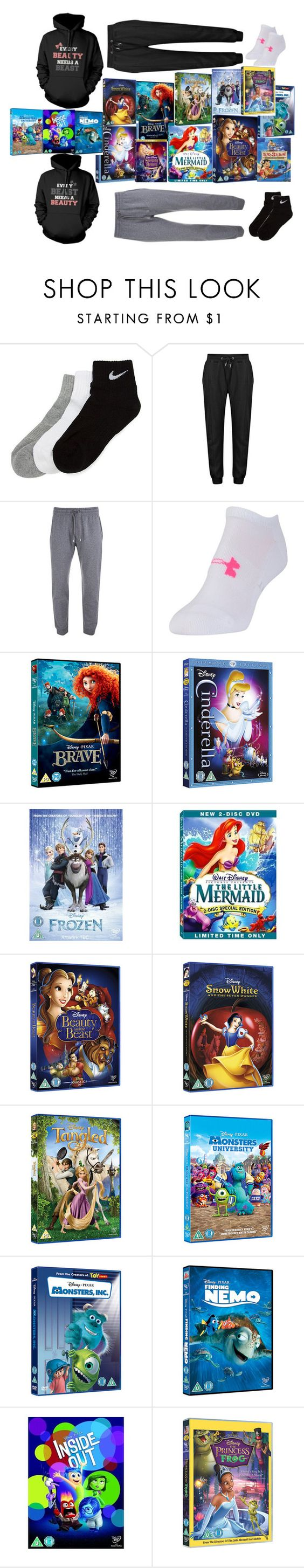"""""""Disney Marathon"""" by sofialarson09 ❤ liked on Polyvore featuring NIKE, Under Armour, Disney, INC International Concepts, disney and films"""