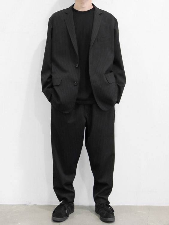 BRAND : GraphpaperMODEL : SELVAGE WOOL JACKET,WOOL COOK PANTCOLOR : BLACK ST | NOTHING BUT BLOG