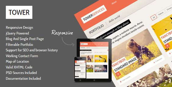Tower - Clean Responsive Template - ThemeForest Item for Sale