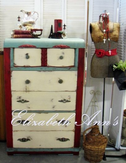 Provence, Emperor's Silk & Old Ochre and mismatched knobs and pulls