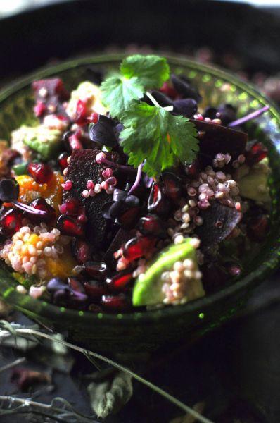 Die Farben ... ♥ Quinoa Rote Beete Avocado I Wintersalat