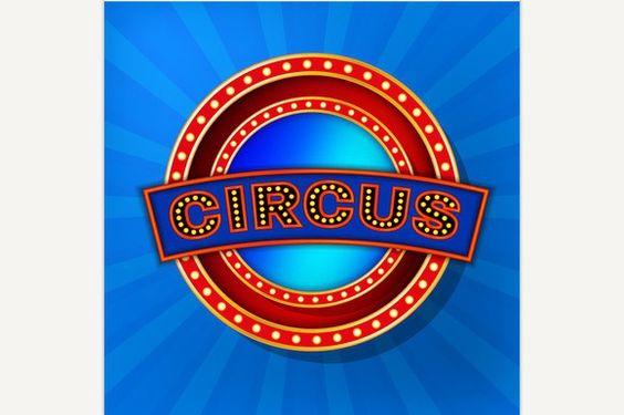 Retro Circus Banner. Poster Templates. $3.00