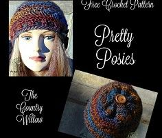 I am so excited to be part of the Holiday Stashdown 2016.  My contribution is this Pretty Posies Hat.  The hat works up from the bottom and can be made in many different colors.   I think stripes and the row of posies would be cute in one color. I hope yo