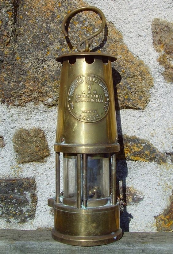 Brass Miner S Lamp Type 6 Old Lanterns Lamp Lantern Candle Holders