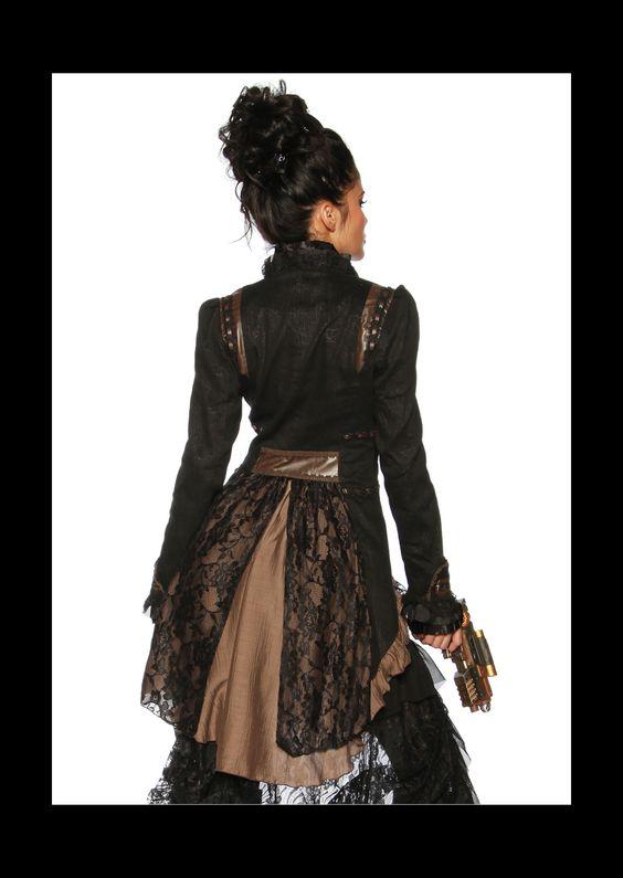 Steampunk Jacket, Short Front. Long Back - Jackets & Outerwear ...