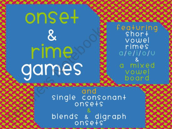 Onset & Rime Short Vowel Games with Blends & Digraphs product from Fashionable-Learning on TeachersNotebook.com