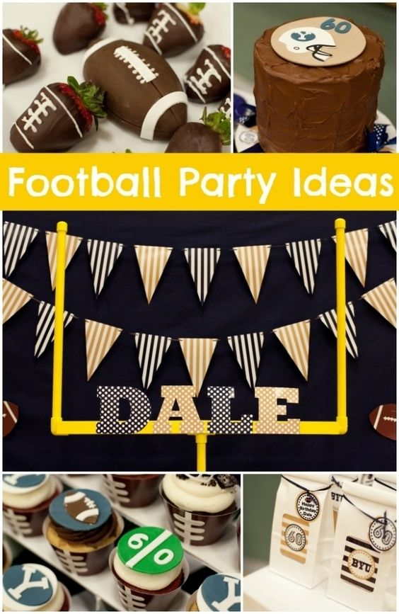 Football party decorations parties decorations and super for Super bowl party items