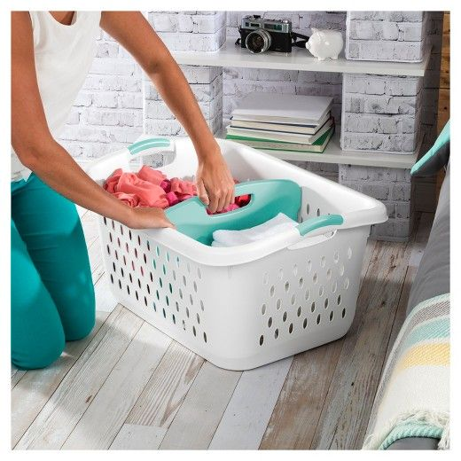 2 2 Bushel Divided Laundry Basket White Room Essentials