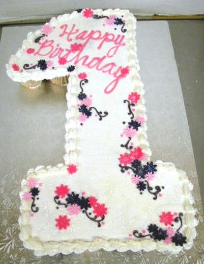 number one shaped cake