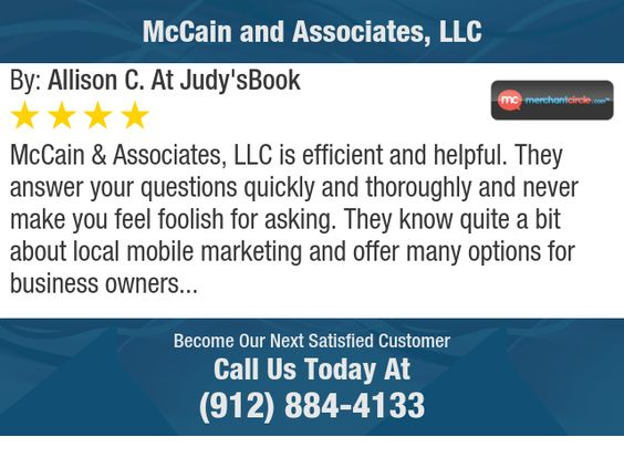 McCain & Associates, LLC is efficient and helpful.  They answer your questions quickly and...