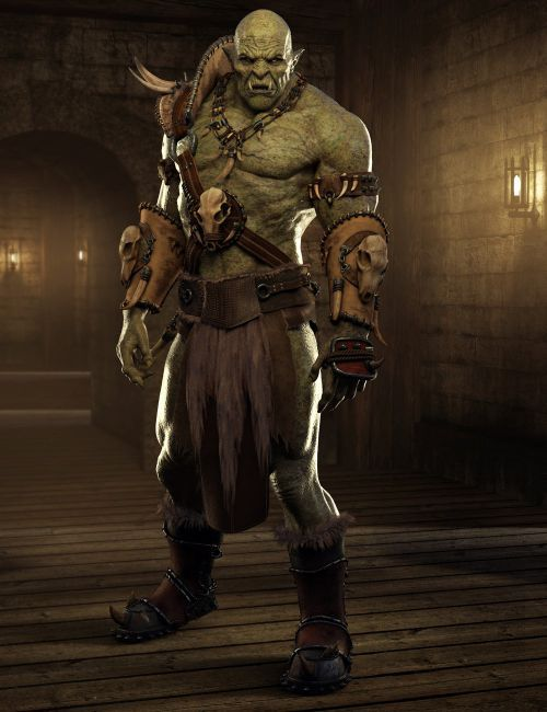 Orc Hd For Genesis 8 Male Fantasy Races Fantasy Characters