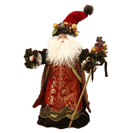 """Santa Figurine With Dellarobia Hat 22"""" Tall"""