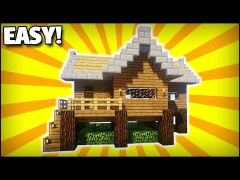 Minecraft How To Build A Small Starter Survival House 3 Easy Tutorial Youtube Minecraft Blueprints Minecraft Houses Survival Minecraft Designs
