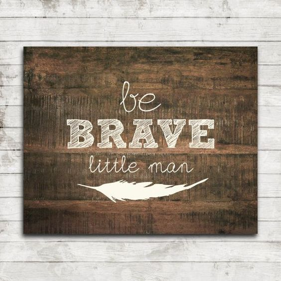 Printable 8x10 Download Be Brave Little by ZoomBooneCreations