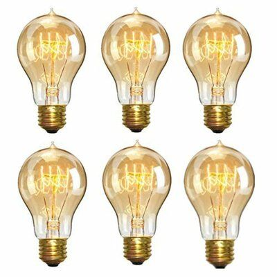 Eurus Home 40watt A19 Incandescent Dimmable Light Bulb 2700k