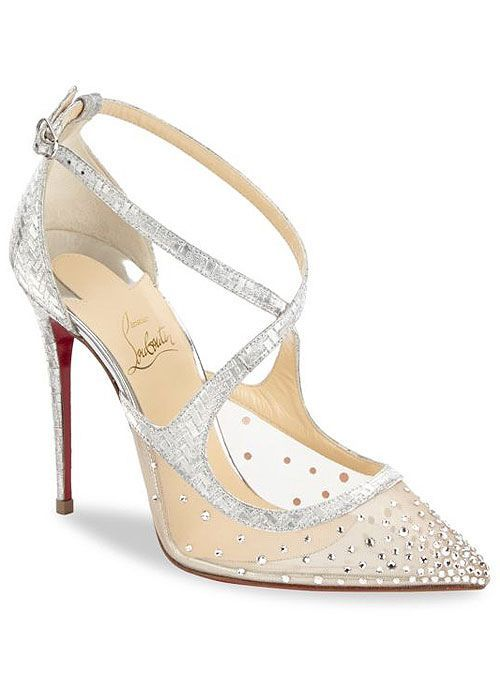 Patinana Strass Red Sole Sandal Nude
