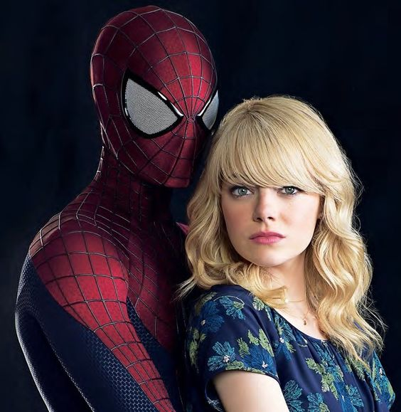 Emma Stone as Gwen Stacy and Andrew Garfield as Peter Parker in Amazing Spider-Man