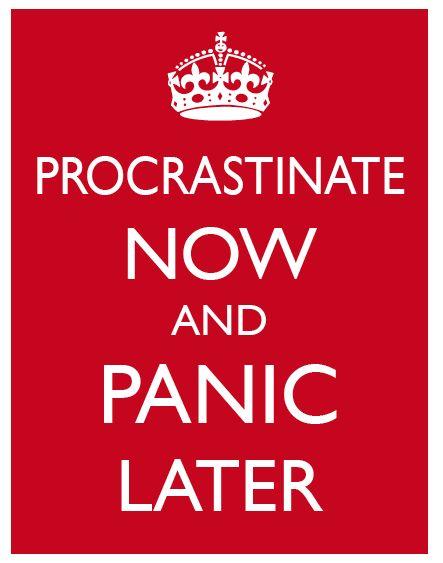 Panic later.