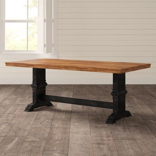Three Posts Fortville Solid Wood Dining Table Reviews Wayfair