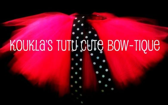 "Koukla's Tutu Cute Bow-tique.  ""Like"" our facebook page for updates on offers and events we will be participating in!"