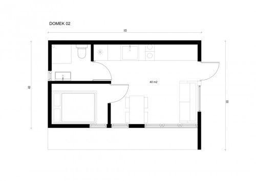 Modernes Sommerhaus 8 00 X 4 00m 32m2 Holzhaus Gartenhaus Gartenhaus Gartenhaus Modern Sommerhaus