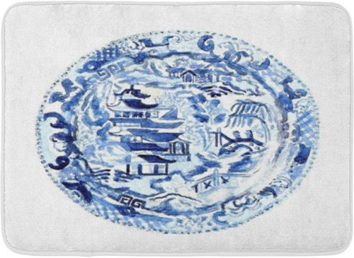 Blue And White Chinoiserie Memory Foam Mats With Images