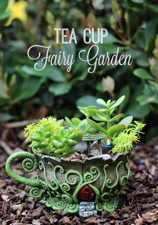 gardens and more fairies garden tea cups fairies teas cups gardens ...