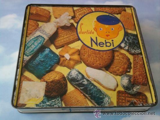 caja lata galletas artiach surtido nebi