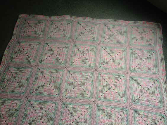 Double Diamond Blanket by Bernat