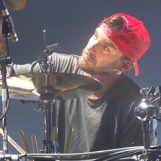 My boy behind the drums