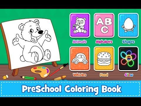 Coloring Games : PreSchool Coloring Book For Kids - Games For Toddlers On  Android - YouTube Animal Coloring Pages, Coloring Books, Coloring Pages  For Girls