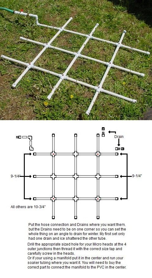 Square Foot Garden PVC Water Sprinkler Project » The Homestead Survival |  Garden Ideas | Pinterest | Water Sprinkler, Square Foot Gardening And  Sprinkler