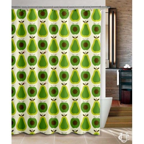 Orla Kiely Apples And Pears Shower Curtain Cheap Shower Curtains