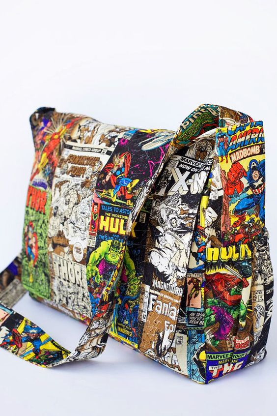 Punk Rock  Marvel Comics Diaper Bag  CUSTOM by RockerByeBaby, $79.99