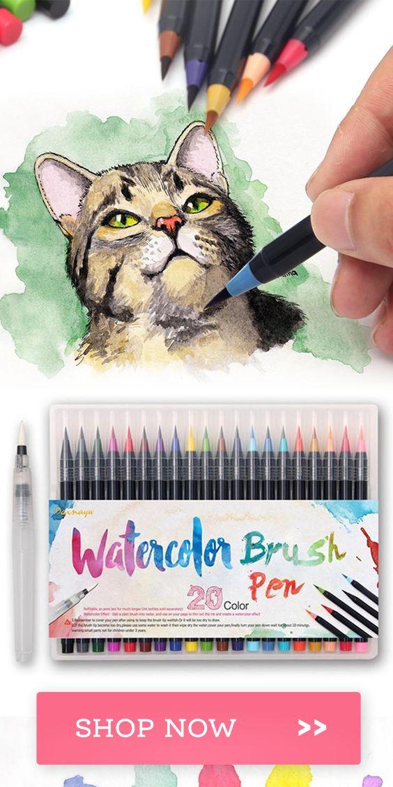 Monet Watercolor Brush Pens 20 Piece Set Watercolor Brush