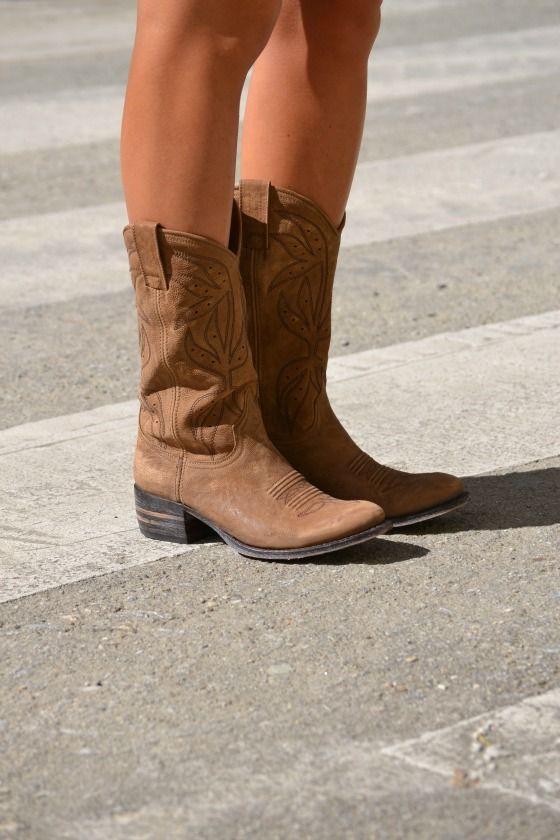 botas cowboy cortas mujer