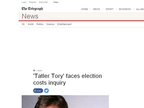 'Tatler Tory' faces election costs inquiry