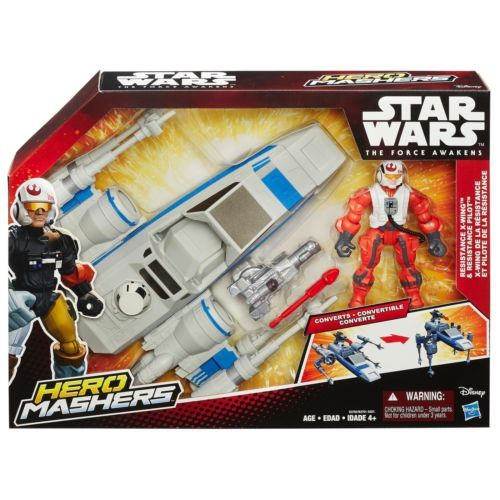 Disney Star Wars Hero Mashers Tie Fighter And Pilot Action Figures EPISODE VII