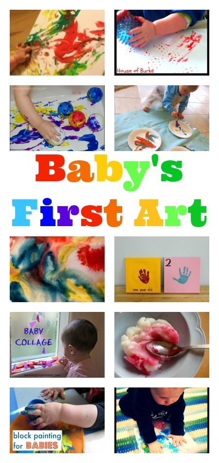 Brilliant ideas for baby' first art. Art is considered DAP for infants. It is an amazing way for infants to be introduced to; not only fine-motor skills but also gross-motor skills.