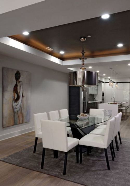 50 Tray Ceiling Image Ideas Design Inspiration Luxury Dining Room Modern Dining Room Dining Room Ceiling