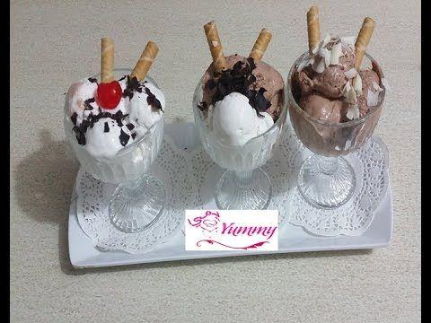 طريقة الايس الكريم المنزلي بدون ماكينه Ice Cream Yummy Homemade Youtube Kitchen Recipes Desserts Yummy