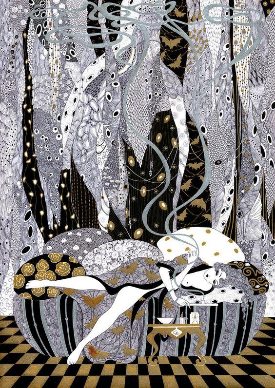 Opium Smoker by Svetlana Dorosheva (Ukranian - contemporary)