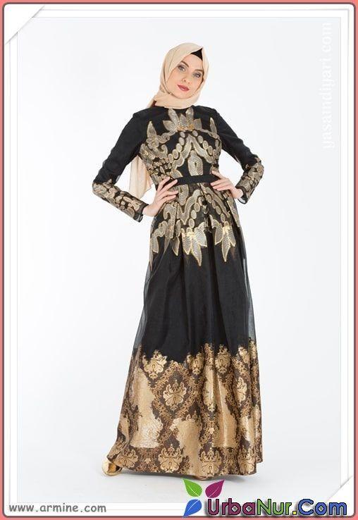 Armine Tesettur Abiye Modelleri 2019 Lookbook Victorian Dress Fashion Dresses