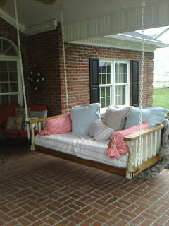 hanging beds for porches | cozy these hanging porch beds are cozier than actual beds that i ve ...
