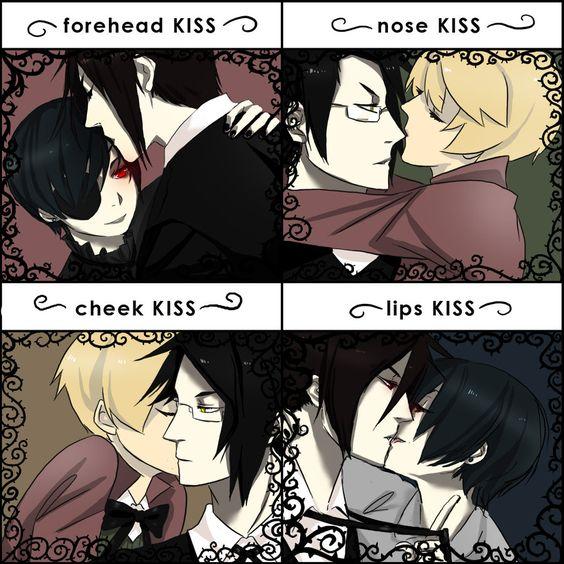Black Butler Sebastian X Ciel Kiss