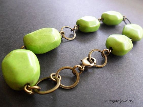 apple green turquoise bracelet - love the color!